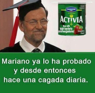 Mariano Rajoy toma Activia